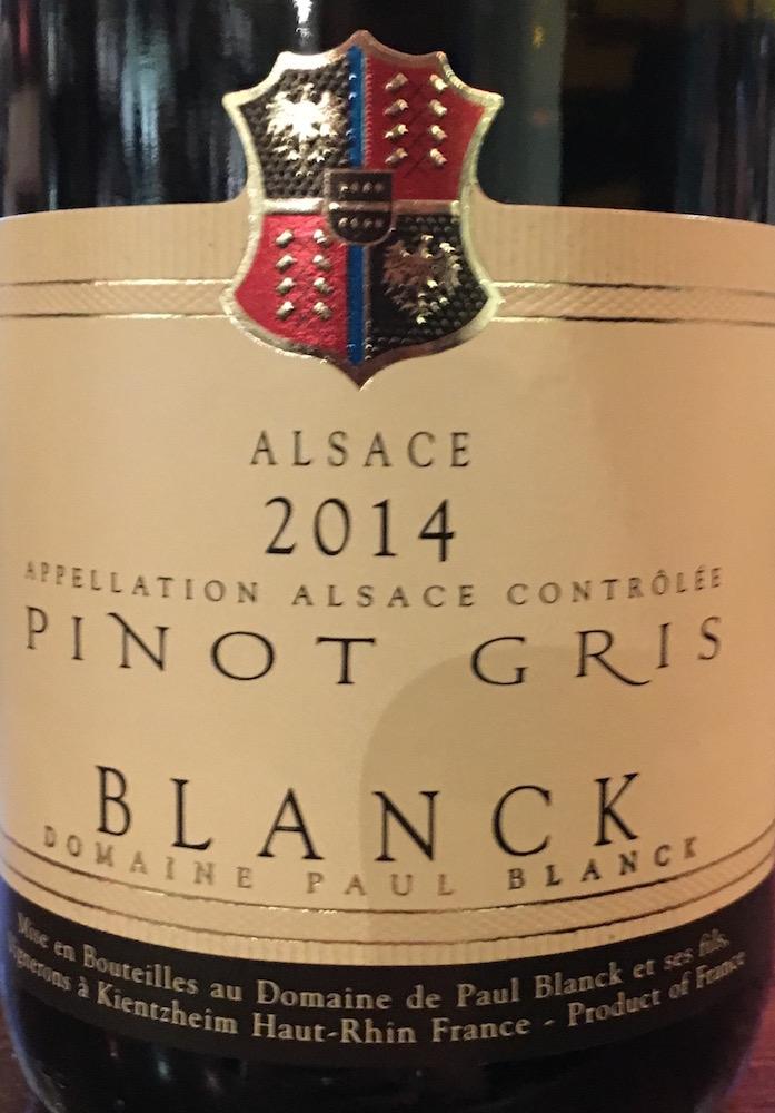 Blanck Pinot Gris 2014