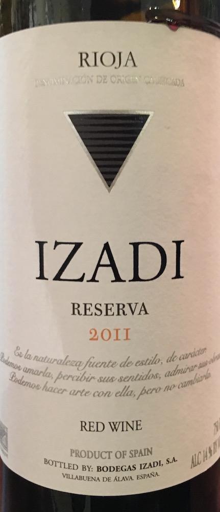 Izadi Rioja Reserva 2011