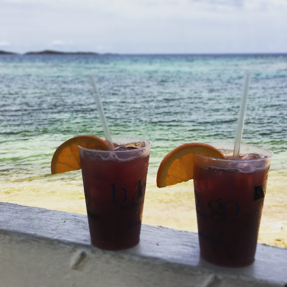 Turn your red wine into sangria when traveling in the tropics! The Bolongo Bay Beach Resort on St. Thomas, U.S. Virgin Islands, has you covered.