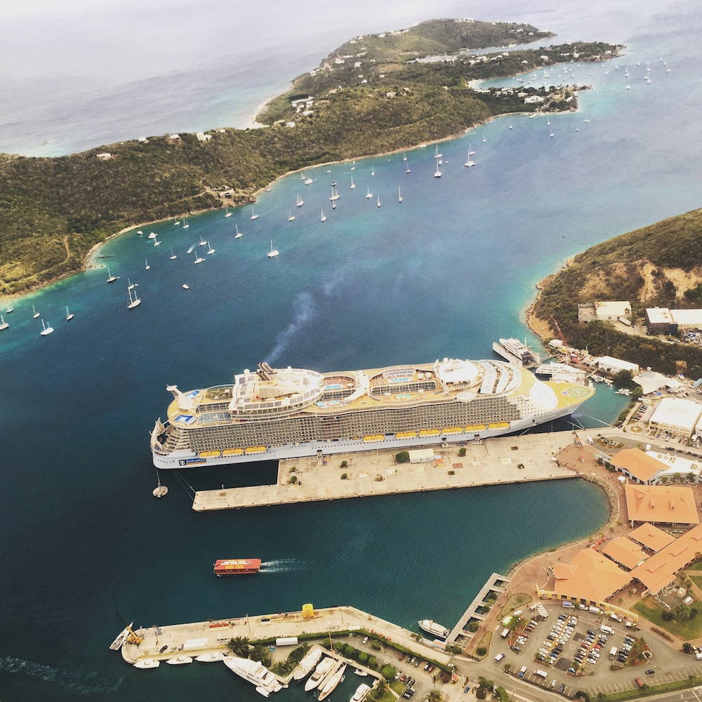 Charlotte Amalie, the capitol, is a major port for Caribbean cruise ships.