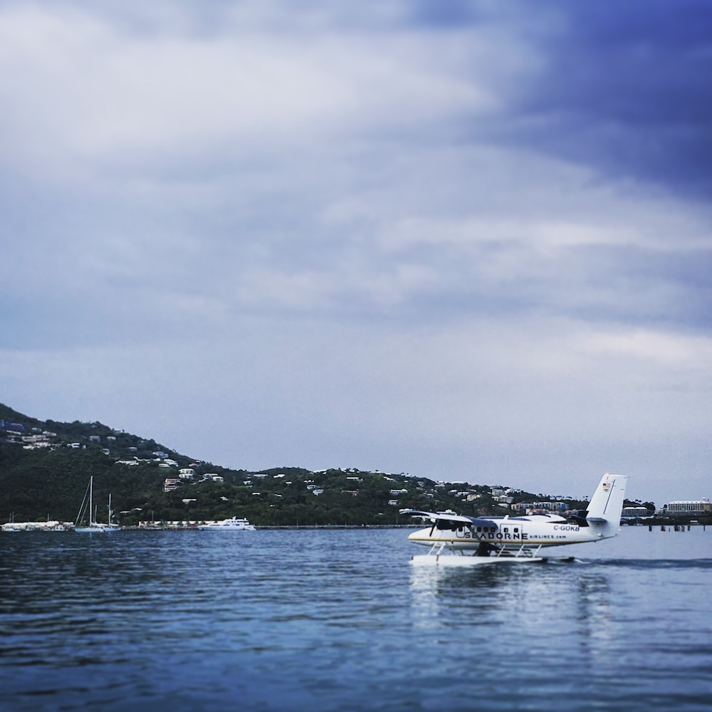 Seaplanes take off regularly from the Charlotte Amalie seaplane port. We wish we'd been flying on one!