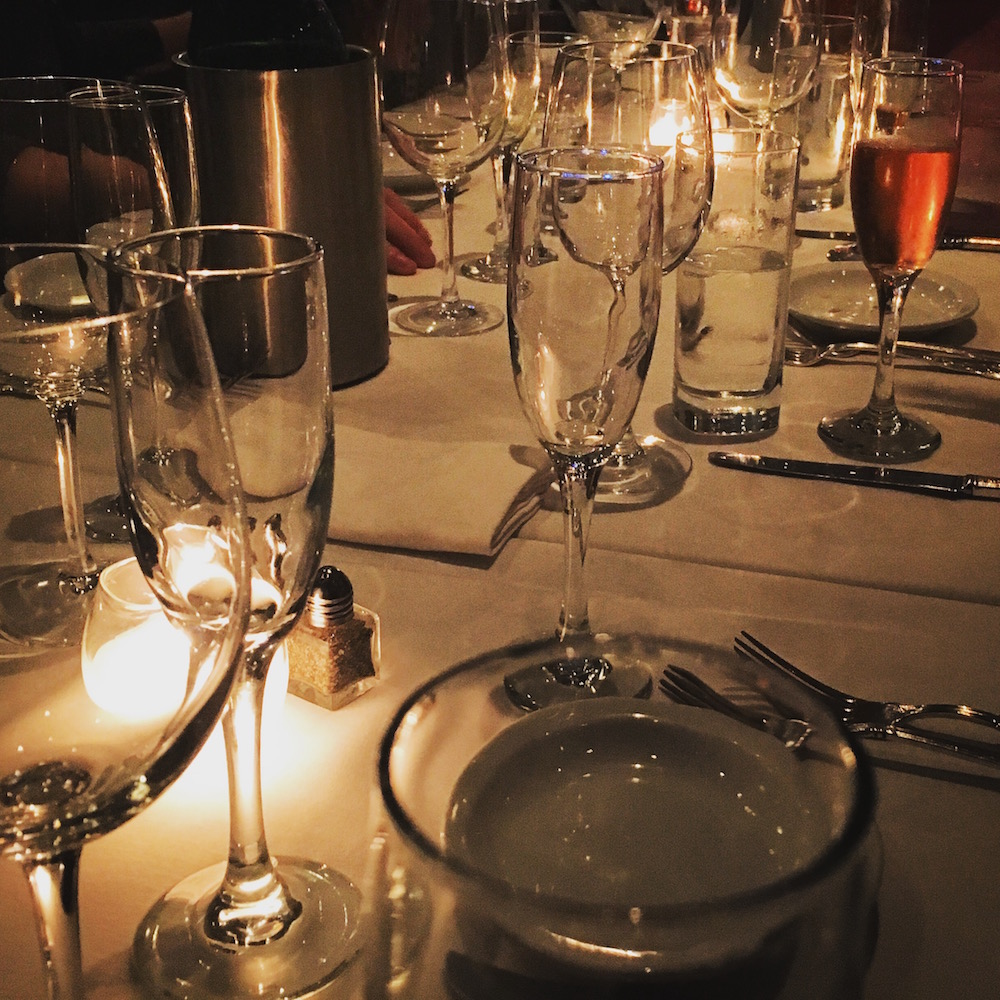 Tables arrayed with candles and glasses, the mood inside of Chimichurri Grill is always the perfect blend of celebration and tranquility.
