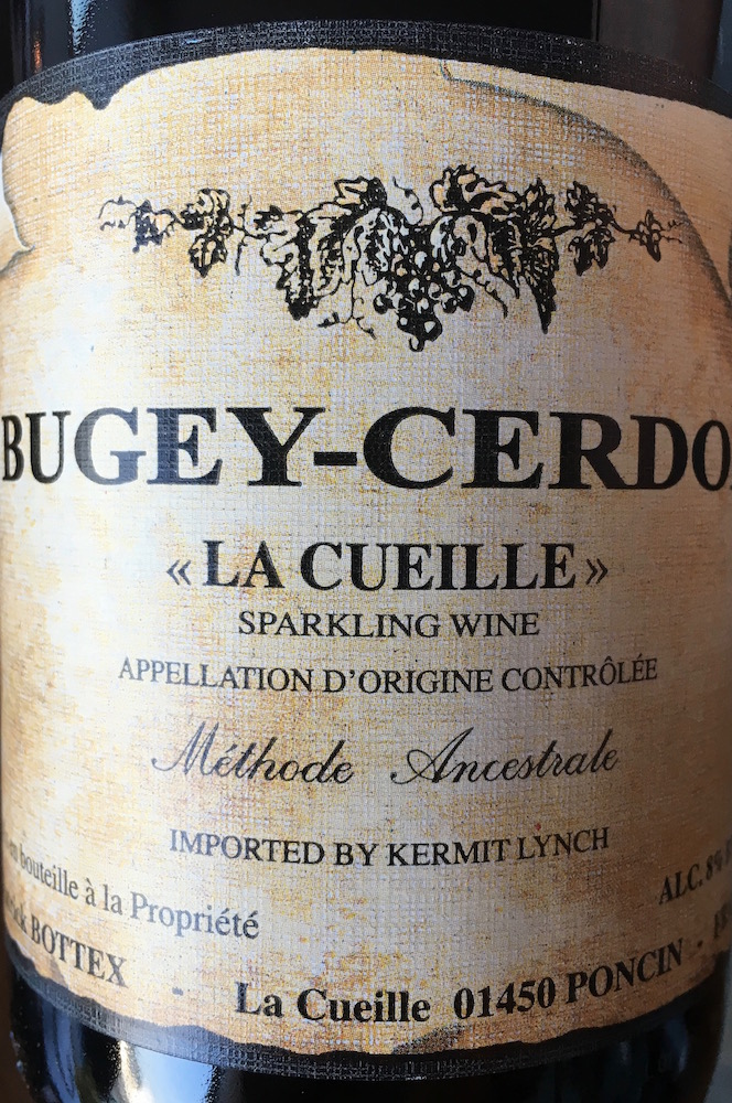This sparkling wine, a Bugey-Cerdon from the Bugey region of France, is perhaps one of the only bottles you could mispronounce while ordering with Kathleen and still get a second date. She loves it a lot.