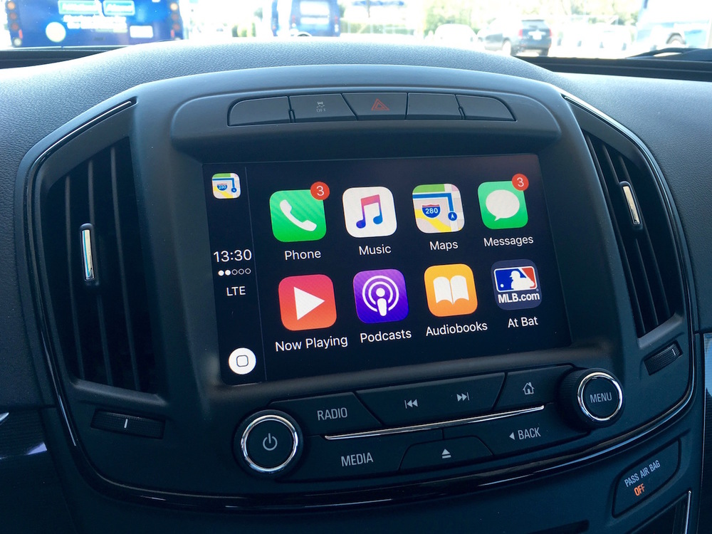 CarPlay is built into the dashboard of equipped models, with an interface that is instantly familiar to any iPhone user.