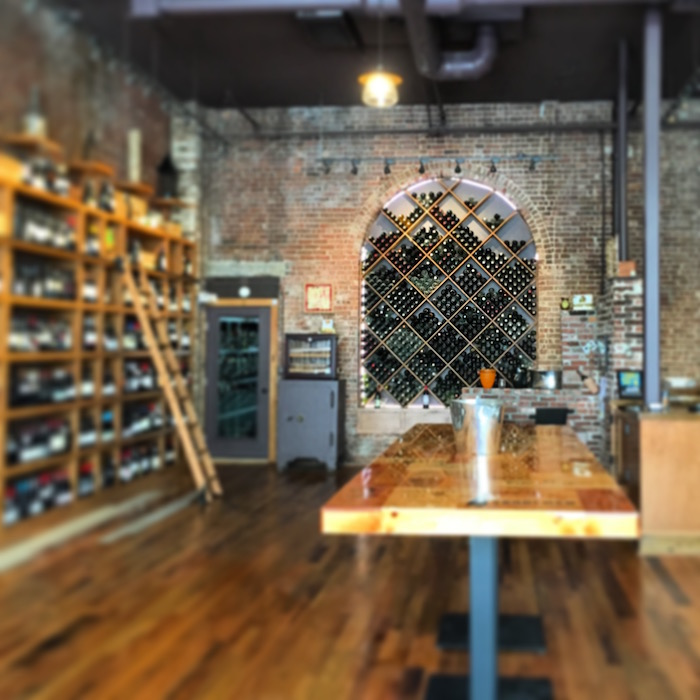 The elegant Crush wine shop