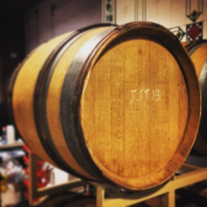 Barrel aging at Travessia Urban Winery