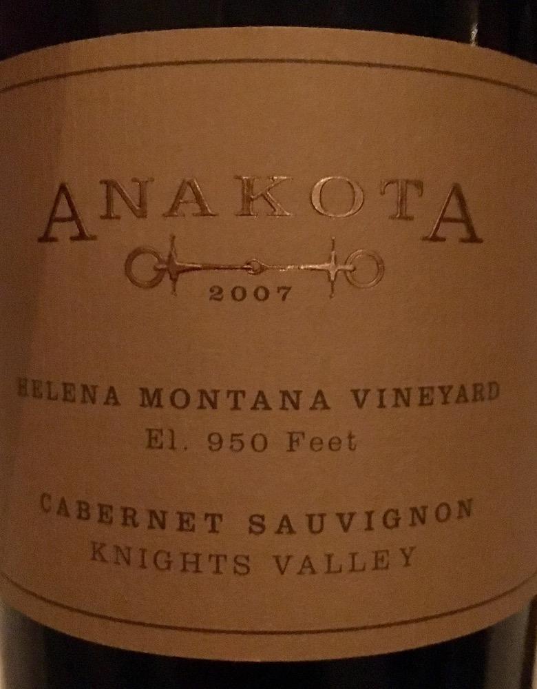 2007 Anakota Cab Sauv
