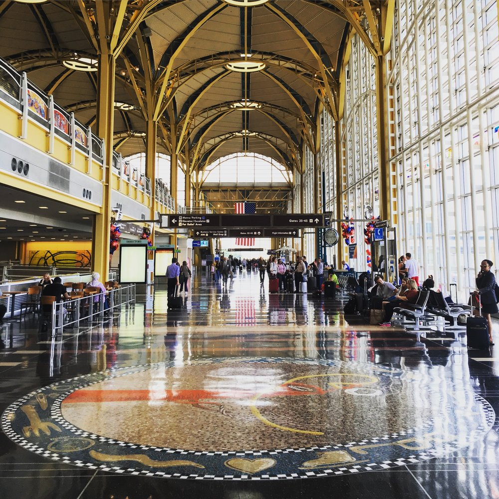 National Hall at National Airport (DCA) in Washington, DC is among the country's most beautiful pieces of airport architecture.