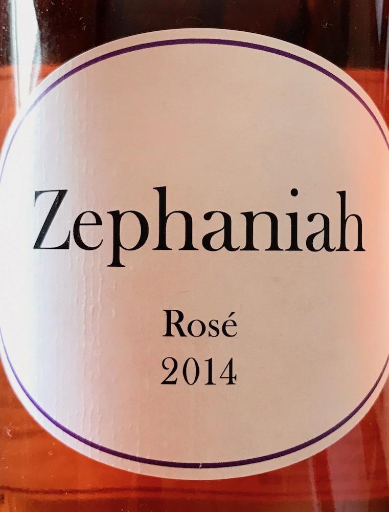 2014 Zephaniah Rosé