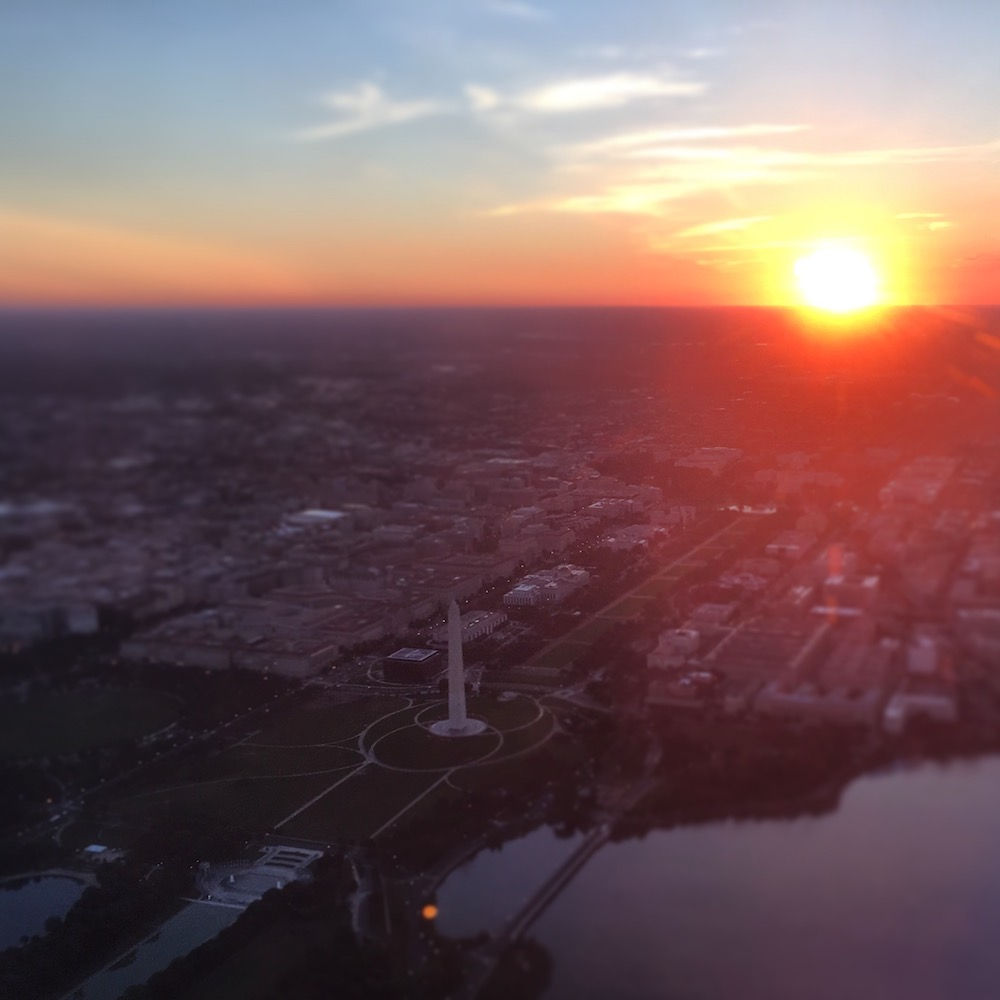 DC Flyover at Sunrise