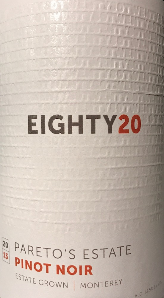 2013 Eighty20 Pinot Noir