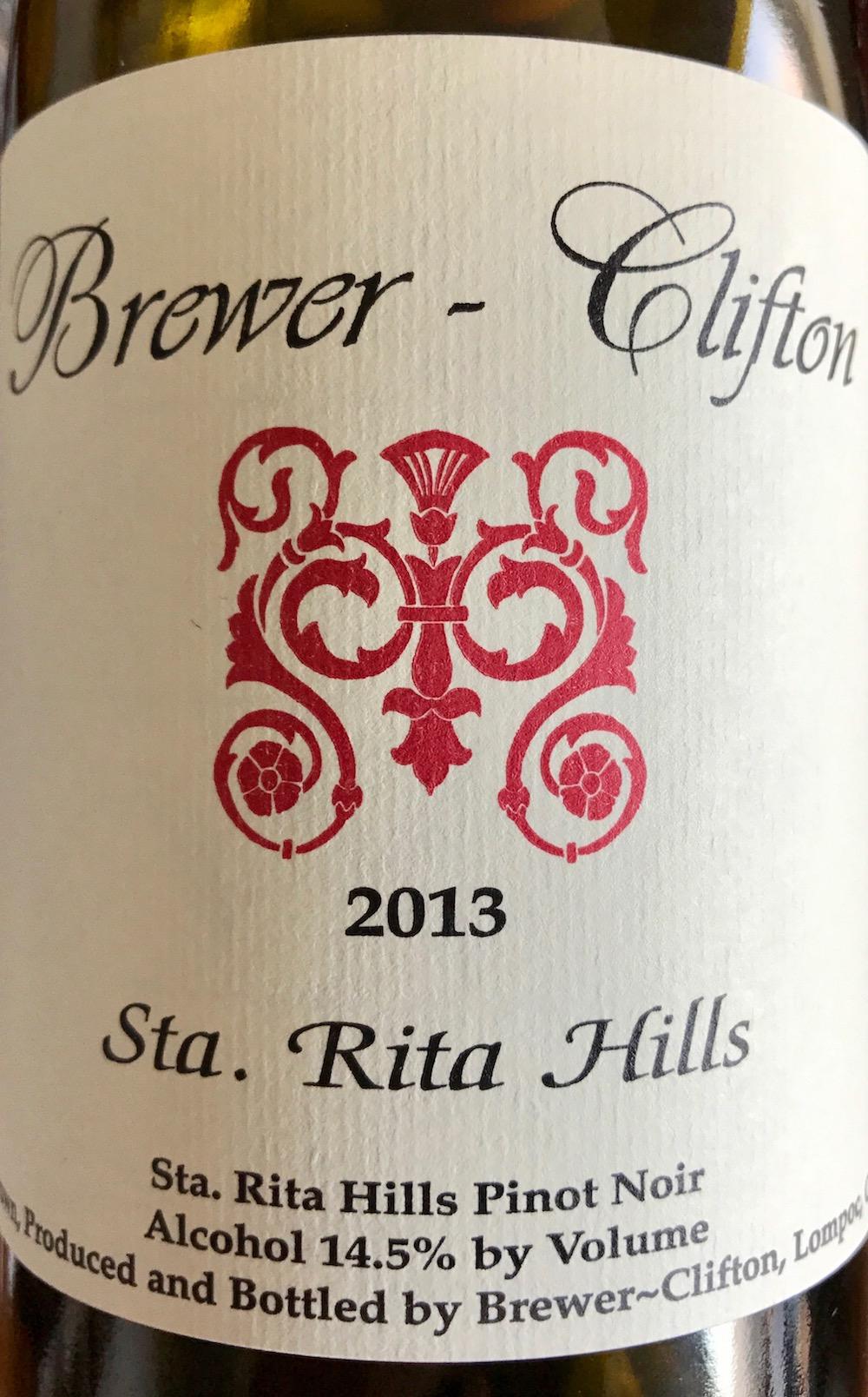 Brewer-Clifton Pinot Noir Sta. Rita Hills