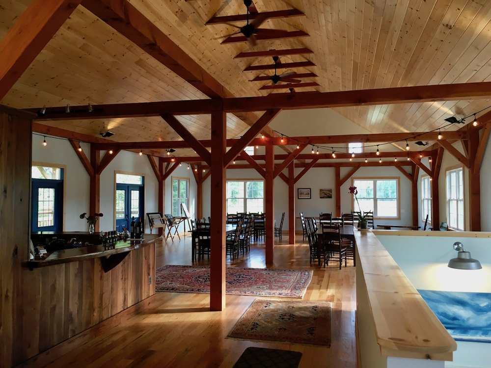 The barn hosts dinners, weddings, and other special events.