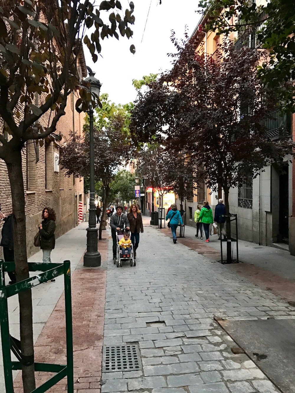 Calle de las Huertas doesn't leave much room for cars, but it's a great central street on which to find an Airbnb and your new favorite restaurant.