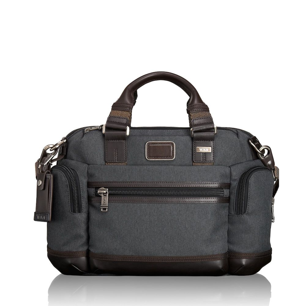 Tumi Alpha Bravo Brooks Slim Brief (Grey)