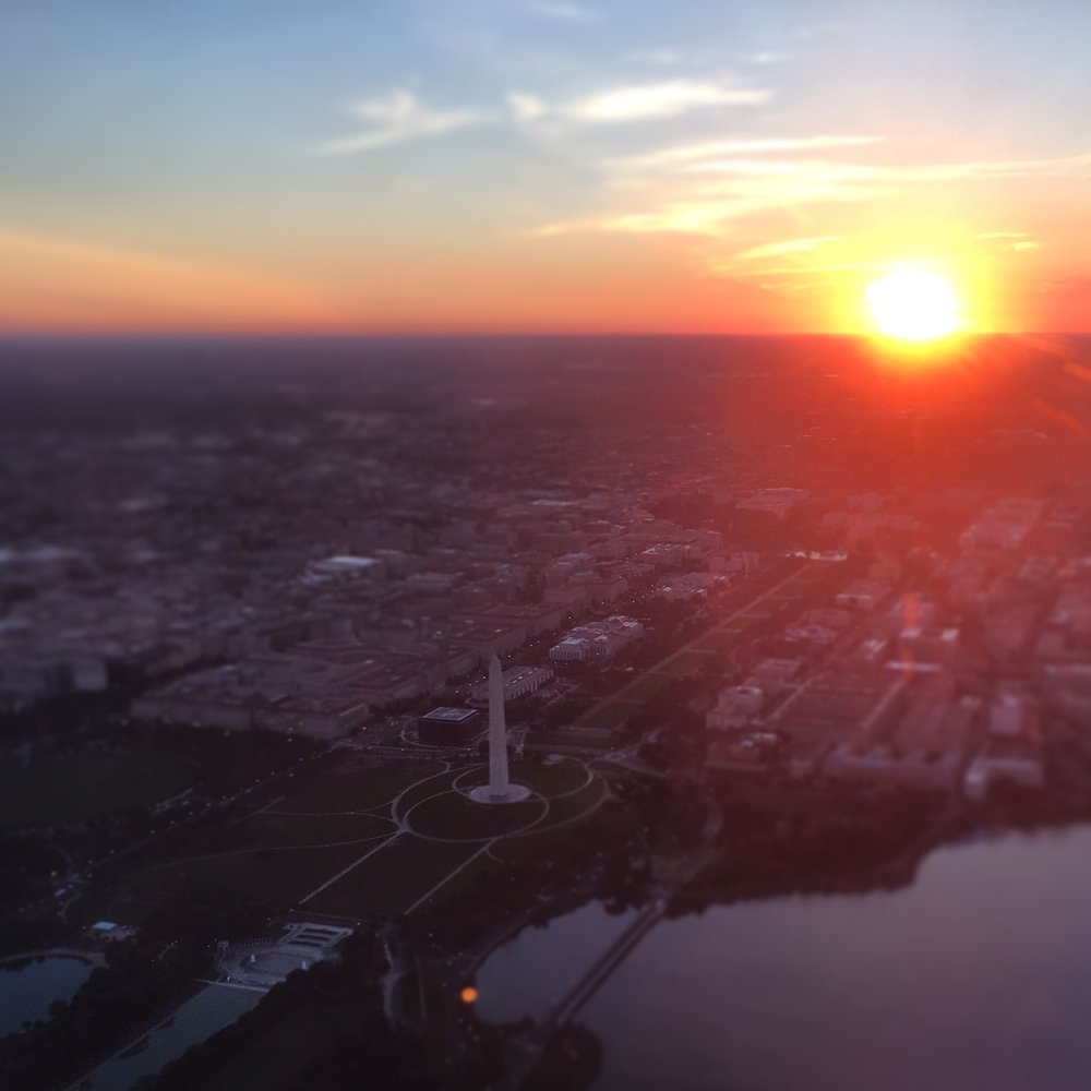 Among other reasons to fly through Washington, DC... sunrises over the city when taking off from the south at DCA are unreal.