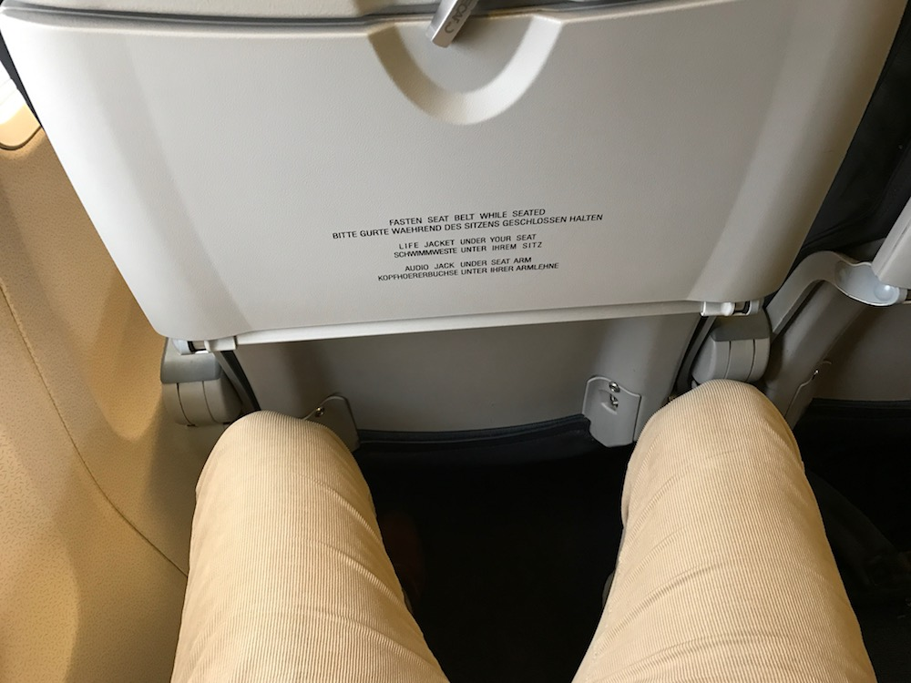 Leg room feels a bit cramped, but I can't put my finger on why. It's managable.