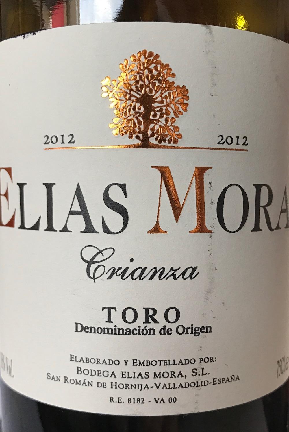 2012 Elias Mora Crianza