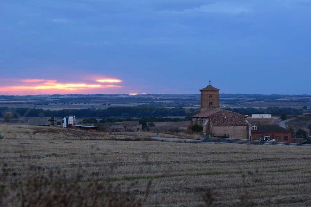 San Román de Hornija at Sunset