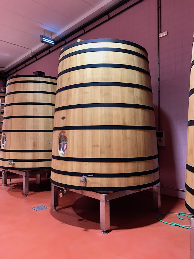 Down to the barrel room...
