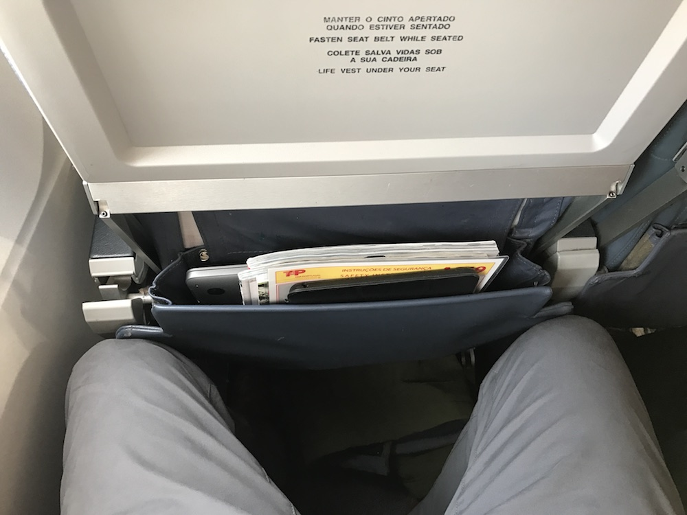 Cramped, but not uncomfortable. I'd not want to be more than about 70 inches tall, though.