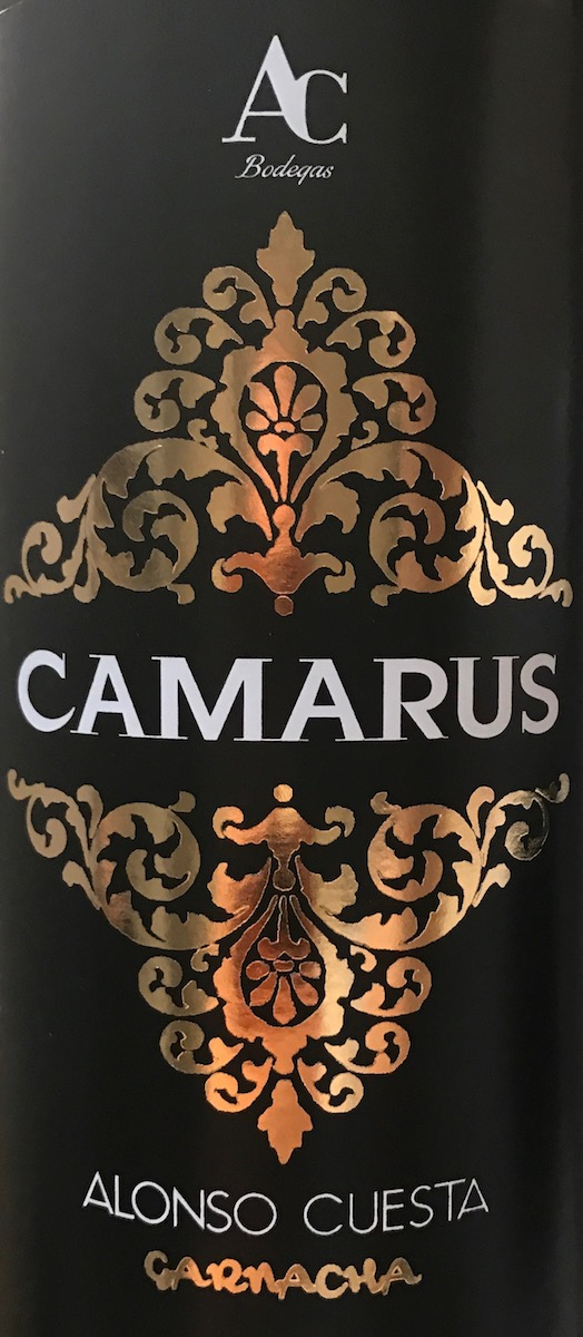 Camarus is their mono varietal Garnacha (i.e. only Garnacha in here).