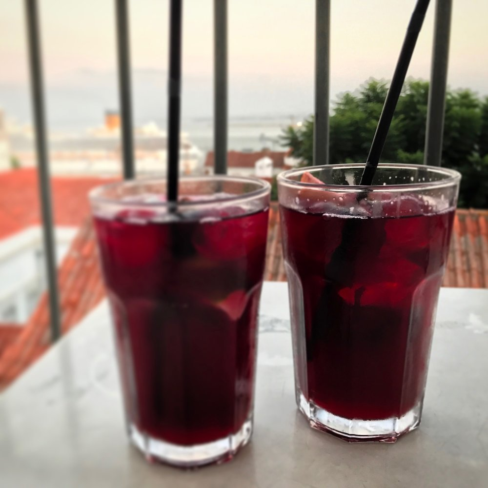 Sangria at Portas do Sol was a good call.