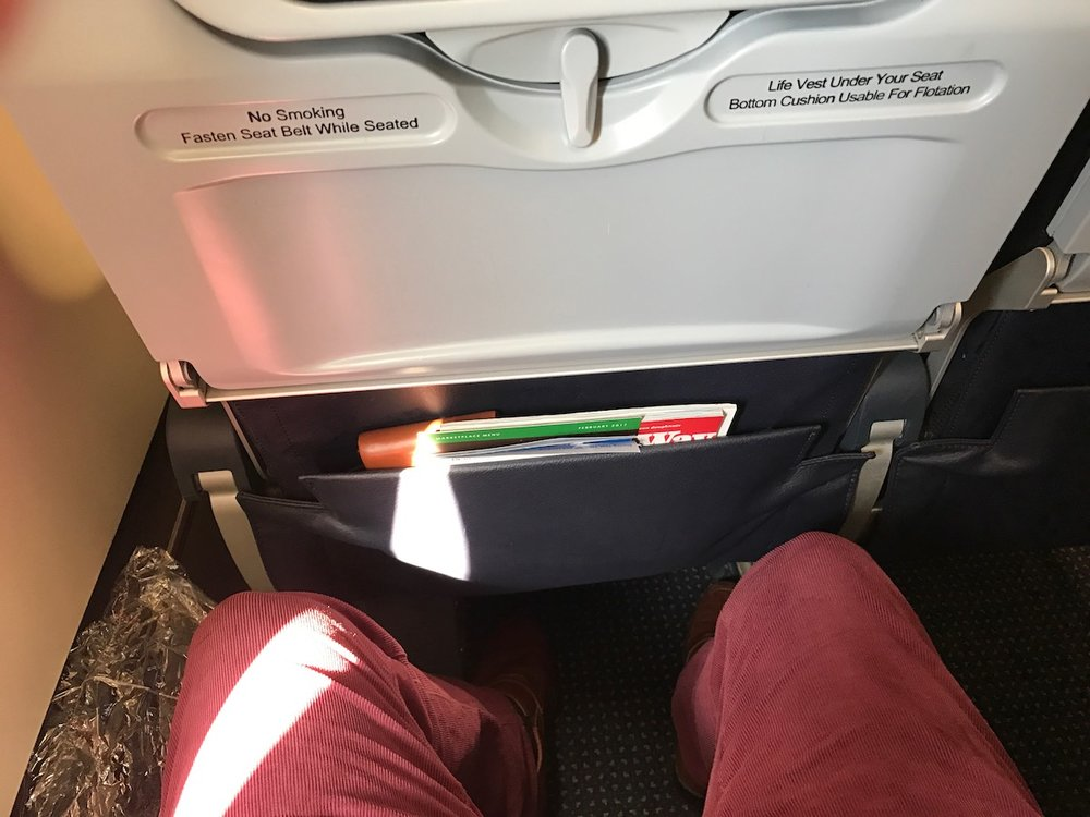 Not the most legroom, but I was comfortable enough.