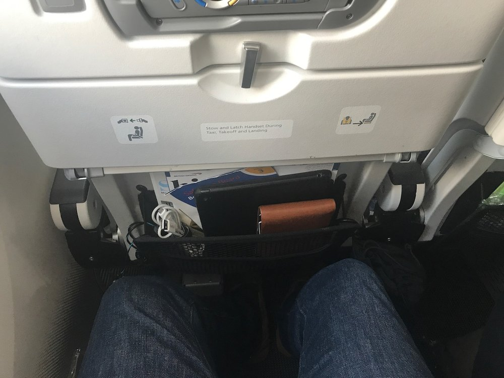 "I'm ""meh"" on the legroom here. Seen better, seen worse."