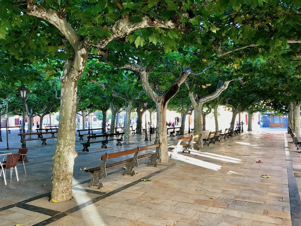 Quiet plaza in Fuenmayor