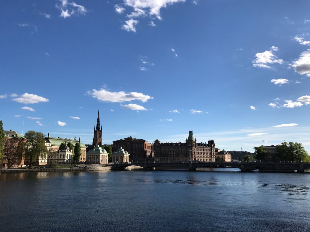 Standing on the Riksdag's bridge