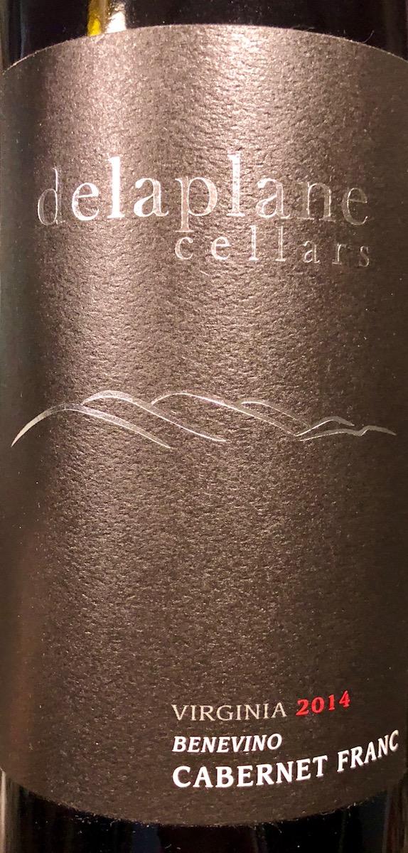 """Delaplane Cellars """"Benevino"""" Cabernet Franc"""