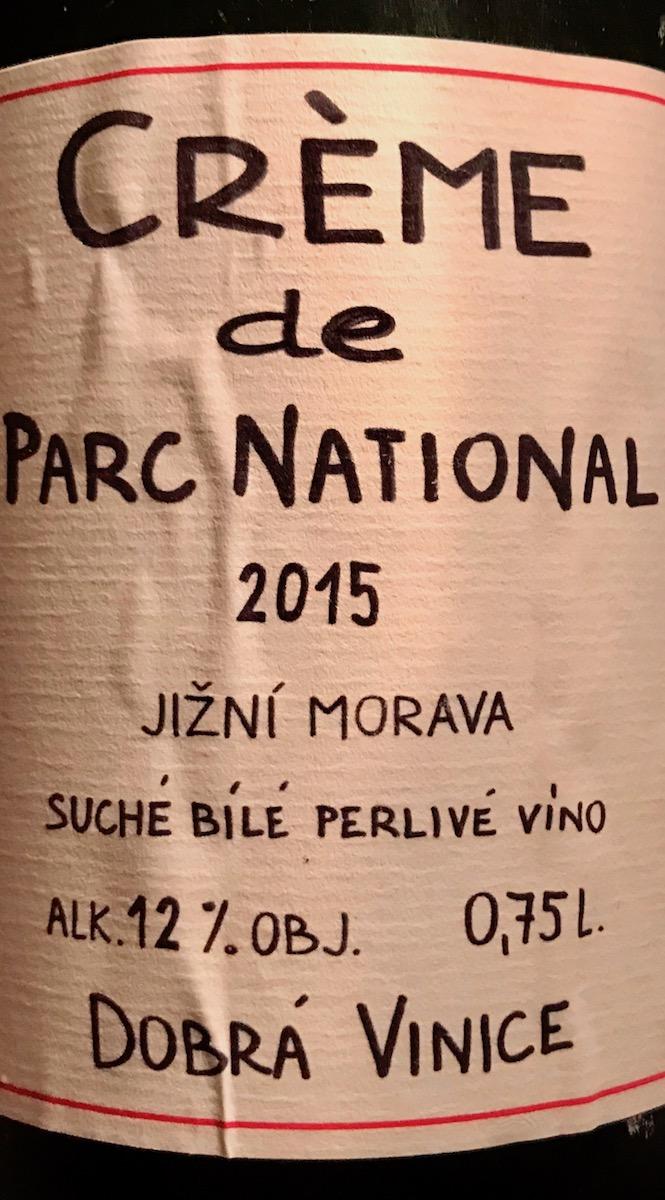Dobrá vinice Crème de Parc National