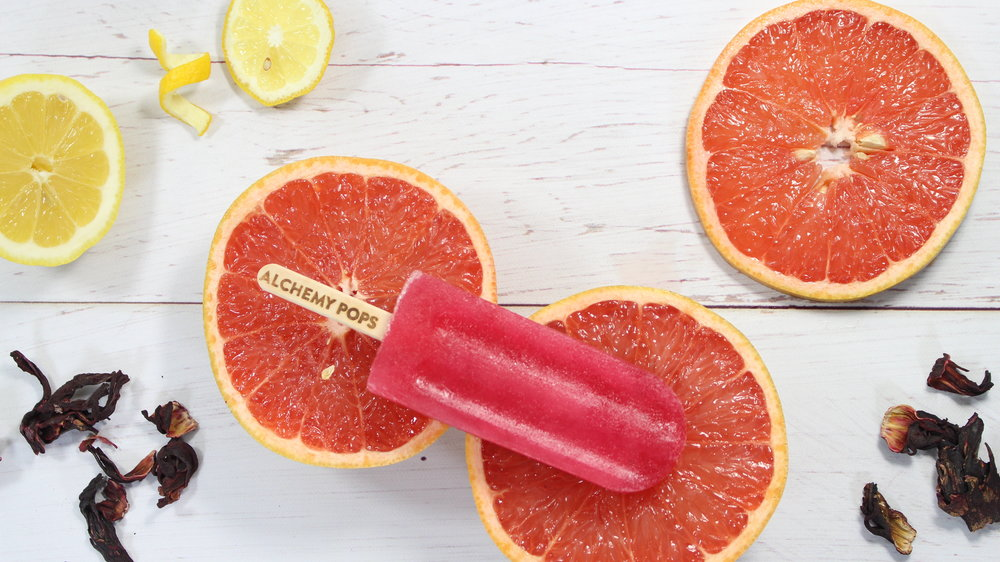 The Grapefruit Hibiscus pop is as juicy and delicious as the fruit it came from.