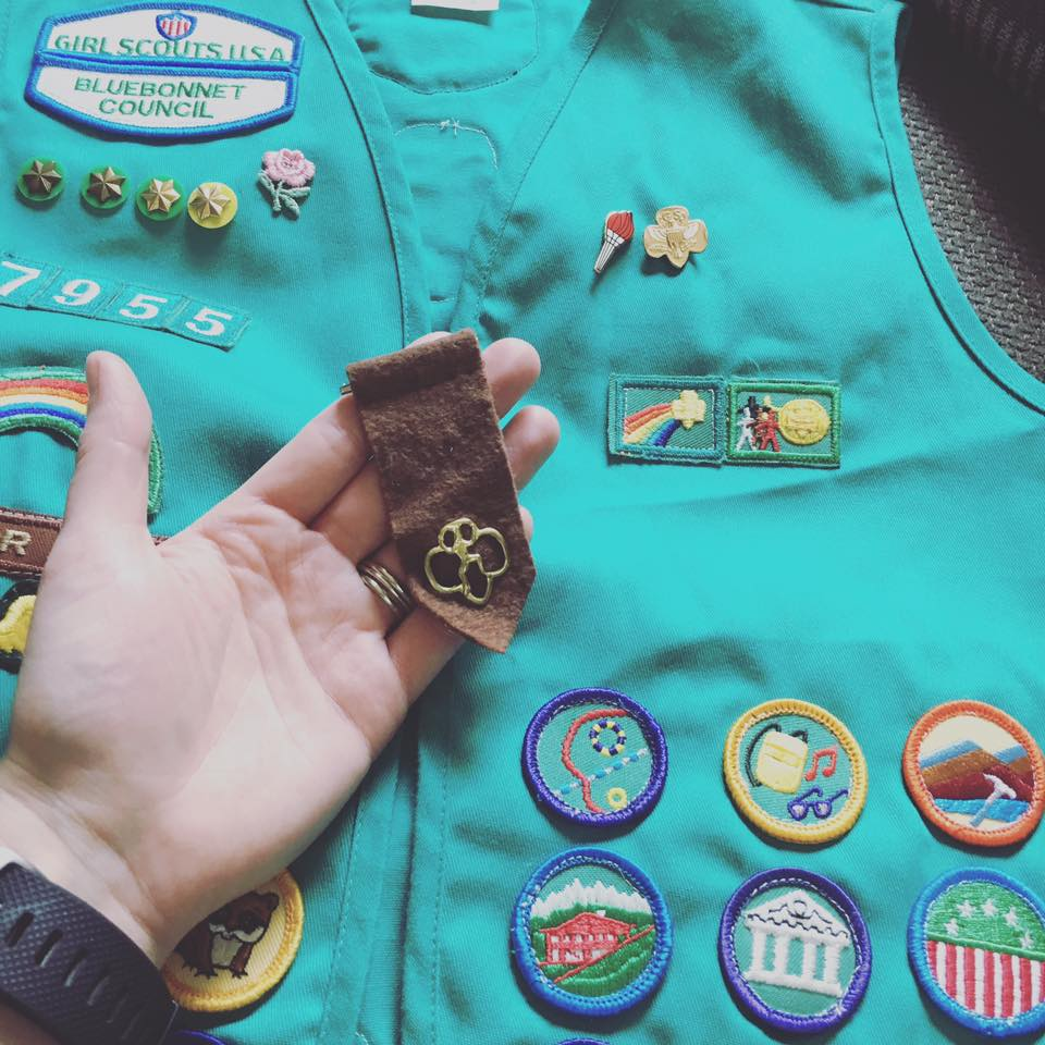 The Girl Scout vest of a future Pop Star!
