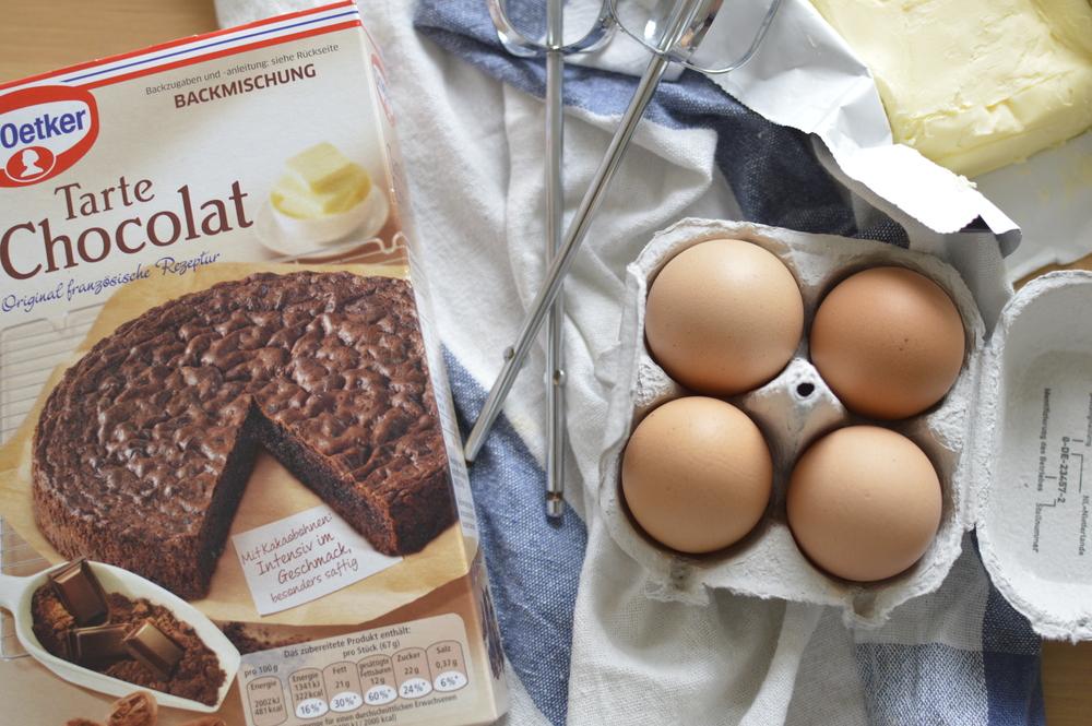 Zutaten Schokoladenkuchen Blogger