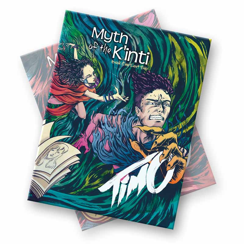Myth of the K'inti: Timo. Book one, Part one of a series of comic books. High quality full colour print version  ON SALE NOW  &   @Comixology