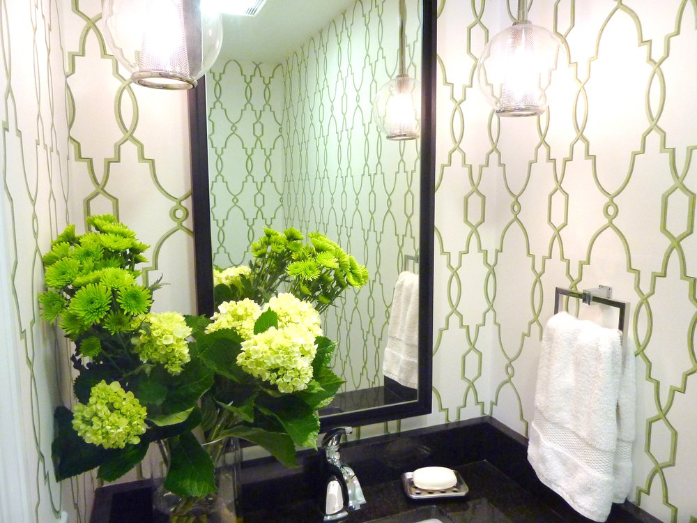 Boston MA Powder Room Interior Design Renovation