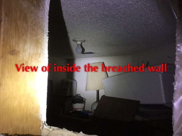This picture was taken from inside a townhouse attic, this is the neighbouring unit!!!