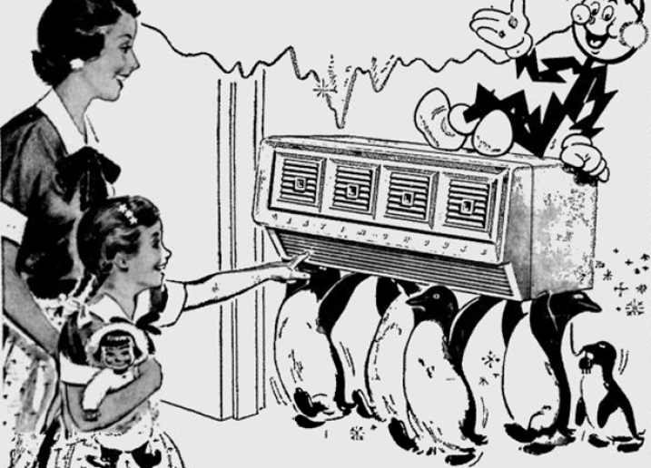 "One of the first public uses of air conditioning was in movie theaters in 1925. Back then it was a breakthrough of scientific technology to be able to cool and dehumidify air that assured ""a temperature that was just right."""