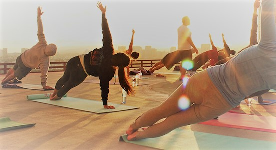 ROOFTOP YOGA IN DOWNTOWN OKC! Thursday's at 5:30 pm and Saturday's at 10:30 am