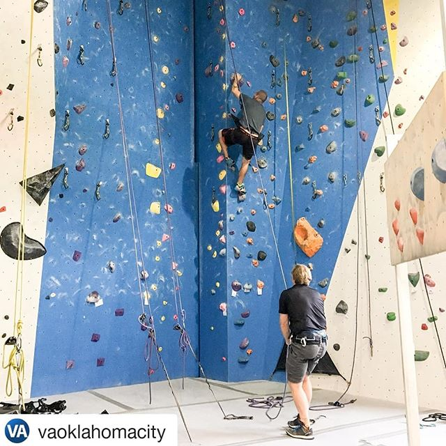 #Repost @vaoklahomacity ・・・ Thank you @vaoklahomacity , Bobbi, Jason, and Ryan for coming and climbing with us at our Adaptive Climbing event yesterday. We enjoyed having you here. We look forward to seeing you again in the near future.  #adaptiveclimbing #veterans #climbupgym #climbing #climbnorman #indoorclimbing