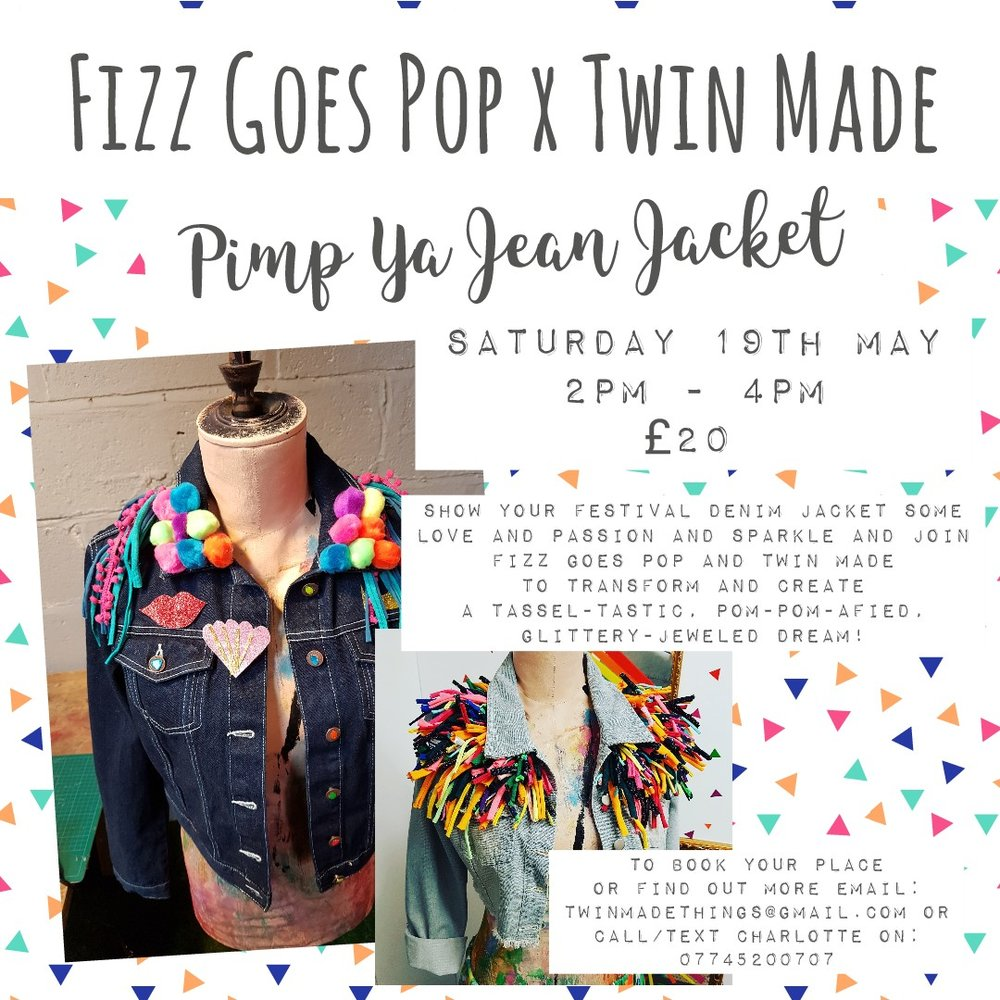 Pip Ya Jean Jacket with Fizz Goes Pop