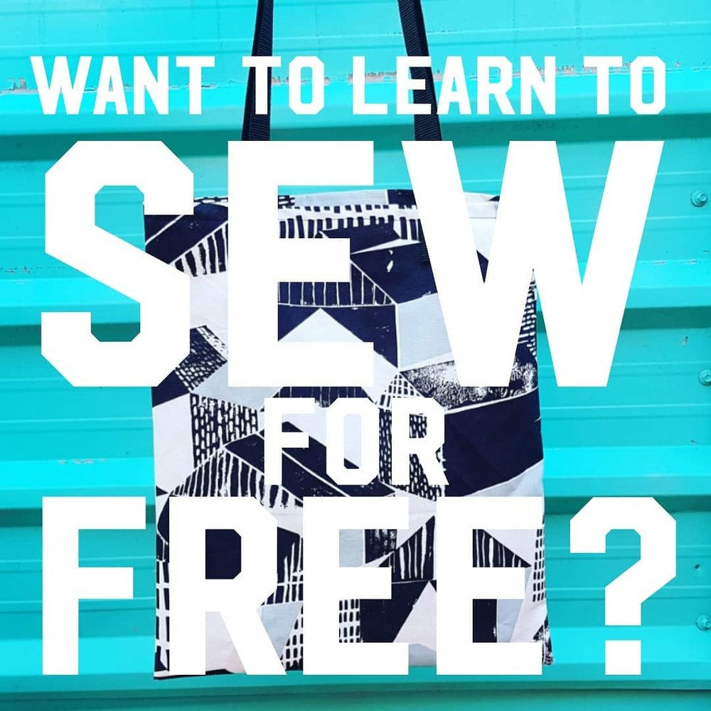 Want to learn to sew for free