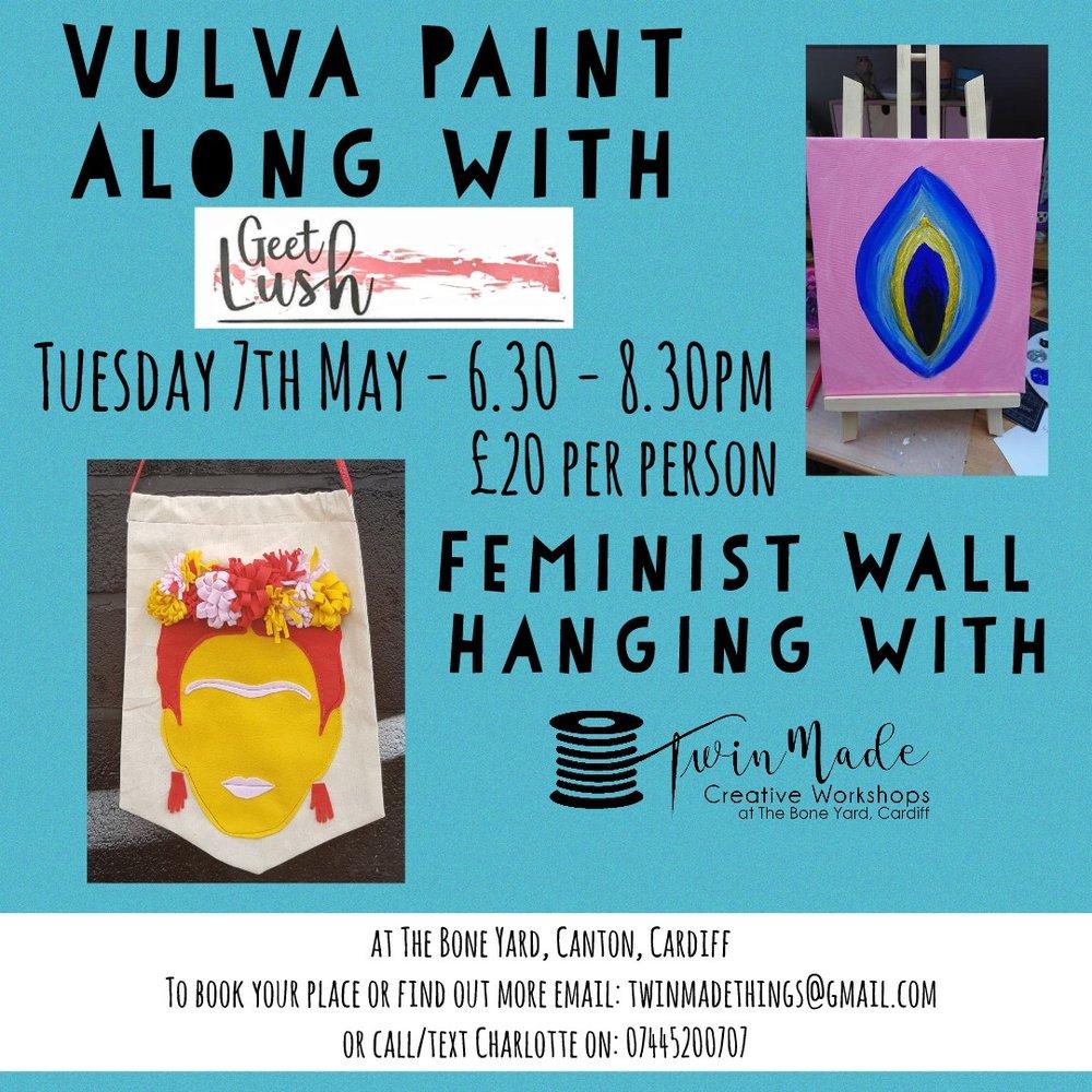 Vulva Paint along or Feminist Wall Hanging