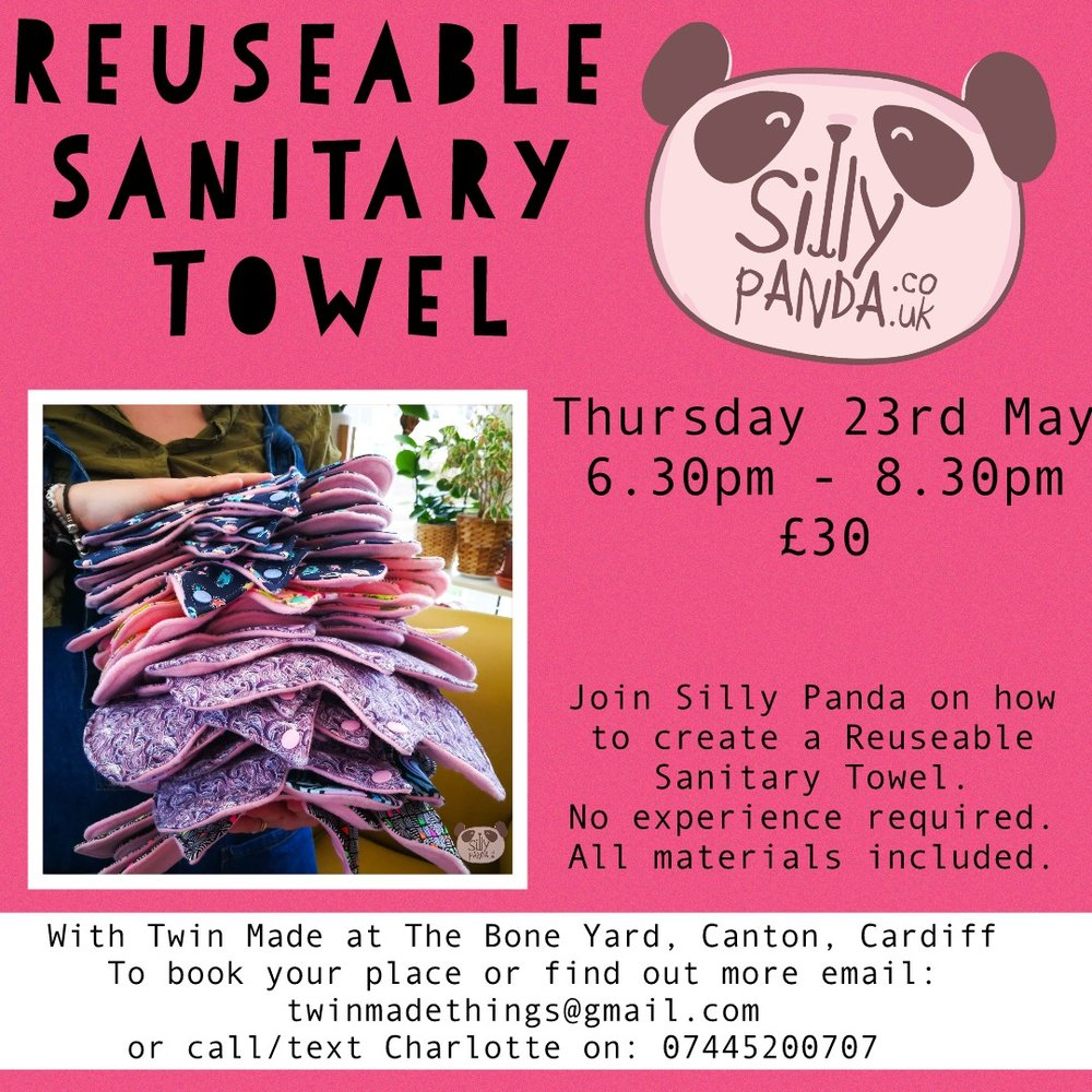 Reuseable Sanitary Towels with Silly Panda