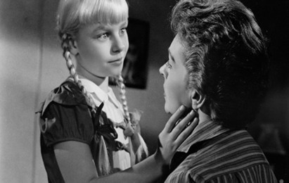 Warner Brothers' outrageously campy The Bad Seed (1956, LeRoy) was embraced by audiences and the Academy alike - it received four Oscar nominations, including three acting nods.