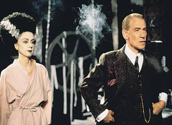 Sir Ian McKellen's portrayal of Frankenstein filmmaker James Whale in Gods and Monsters (1998, Condon) netted him a Best Lead Actor Oscar nomination.