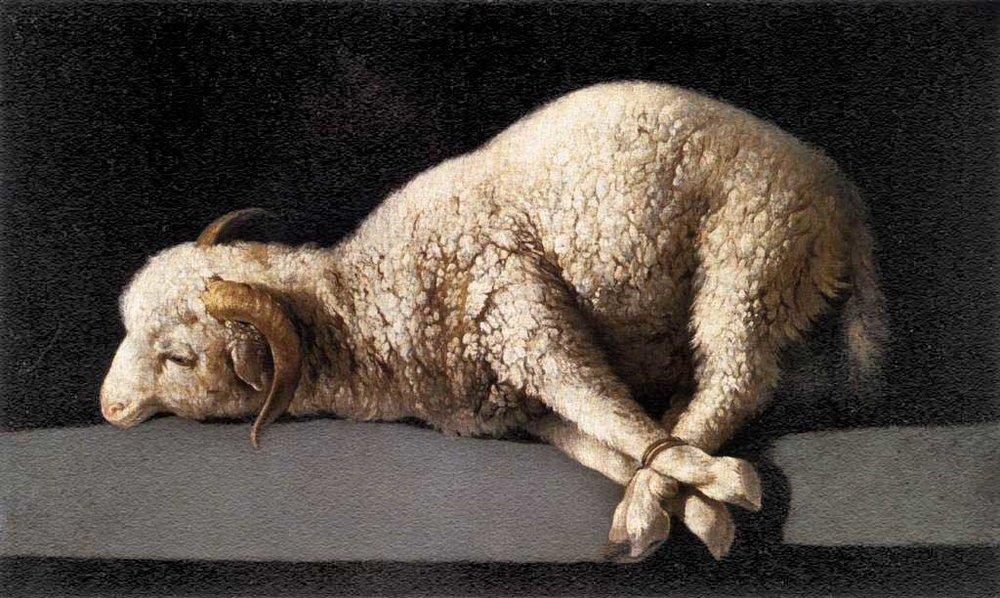 """Agnus Dei""by Francisco de Zurbarán"