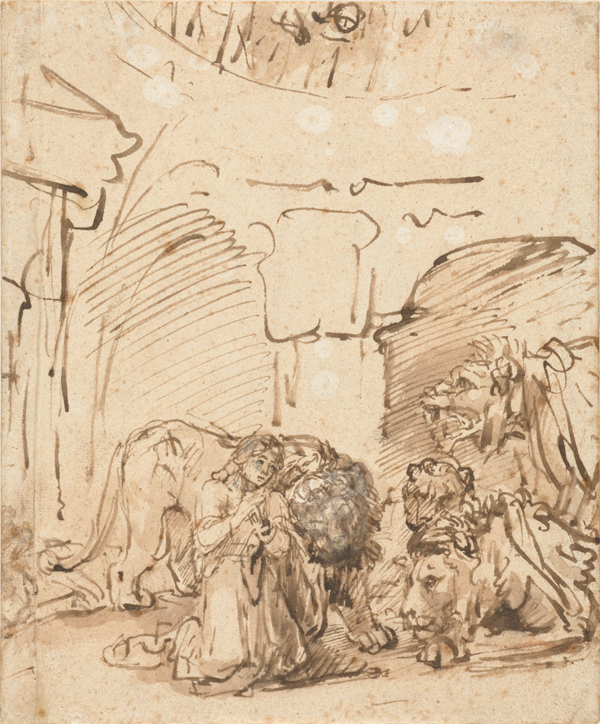 Daniel in the Lions' Den, Rembrandt, about 1649